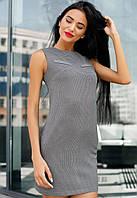 Стильное короткое платье из стрейч-шерсти.