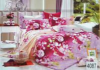 Сатиновое постельное белье семейное ELWAY 4087