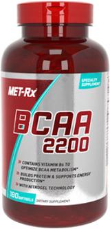 БЦАА, MET-RX, BCAA 2200, caps 180
