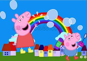 Прямоугольные картинки Свинка Пеппа