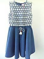 Джинсовое платье для девочек р.104,122