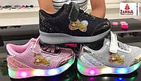 Детские кроссовки с Led-подсветкой Размеры 25-30