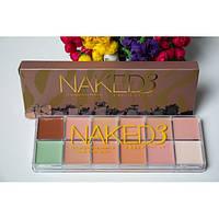 Палитра  кремовых консилеров 12 оттенков Naked3 для макияжа