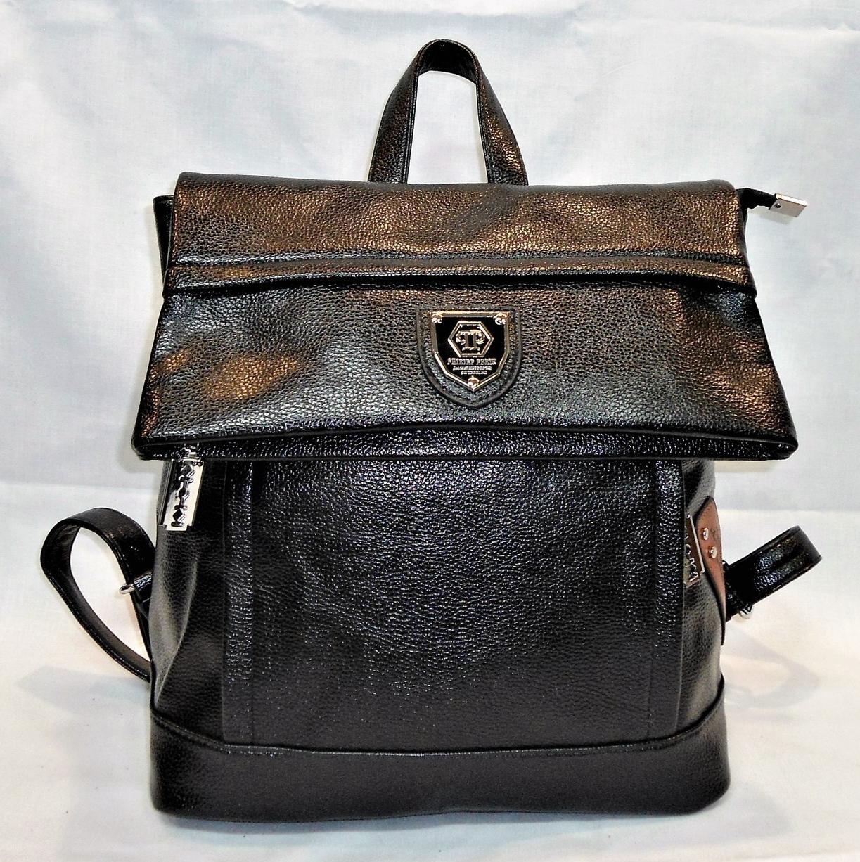 Стильный рюкзак из искусственной кожи черного цвета YYK-505577 - Интернет-  магазин