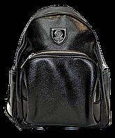 Модный рюкзак из искусственной кожи черного цвета YDK-643337, фото 1