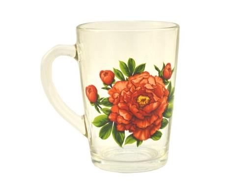 Чашка стеклянная Helios 0713 300 мл