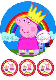 Круглые картинки Свинка Пеппа