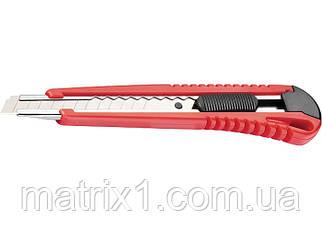 Нож, 9 мм, выдвижное лезвие, металлическая направляющая// MTX