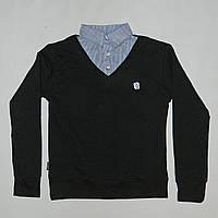 Кофта - рубашка школьная для мальчика 7 - 12 лет