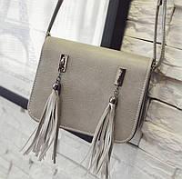 Fashion сумка почтальон с кисточками