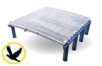 Пластиковый щелевой пол для голубятни 100х100 см