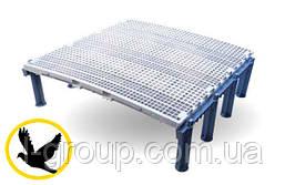 Пластиковий щілинна підлога для голубники 100х100 см