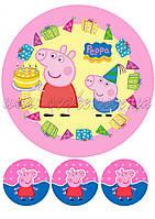 Вафельна картинка Свинка Пеппа