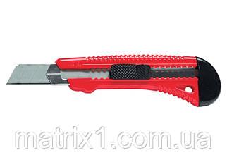 Нож, 18 мм, выдвижное лезвие, металлическая направляющая// MTX