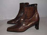 Donna Elastomere _хорошие кожаные ботиночки _38р_ст. 24.5см Н49