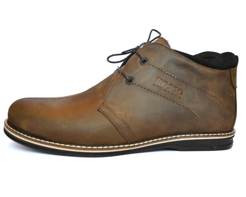 Большие размеры Коричневые зимние мужские ботинки большого размера дезерты Rosso Avangard King Brown BS