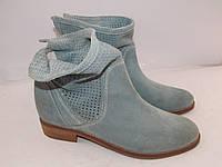 TAMARIS _Германия _шикарные замшевые стильные ботинки _39р_25.5см Н50