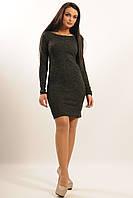 Классическое приталенное теплое платье из ангоры 42-50 размер