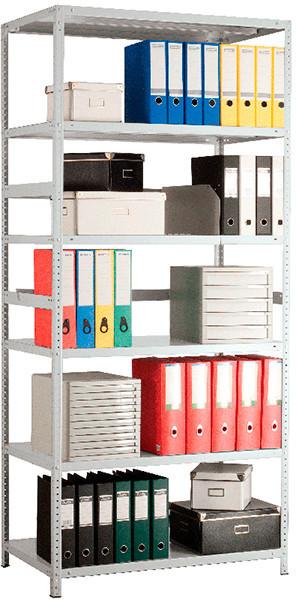 Стеллаж металлический MS-200 (ВхШхГ - 2000х1000x300) - 7полок, фото 1