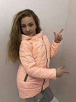 Куртка для девочек с молнией на косую