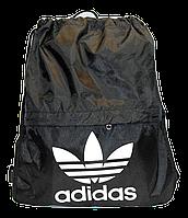 Легкий рюкзак аdidаs на шнурке черного цвета LLP-000018