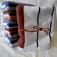 Красивые махровые  полотенца  для лица  бантиком Размер: 1,0 x 0,5