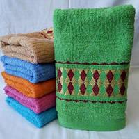 Красивое  большое банное полотенце с орнаментом  Размер 140*70.