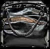 Женская сумка из натуральной кожи черного цвета XXQ-007667