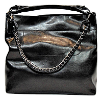 Женская сумка из натуральной кожи черного цвета XXQ-007667, фото 1
