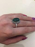 РАСПРОДАЖА!! Кольцо с камнем оникс в серебре