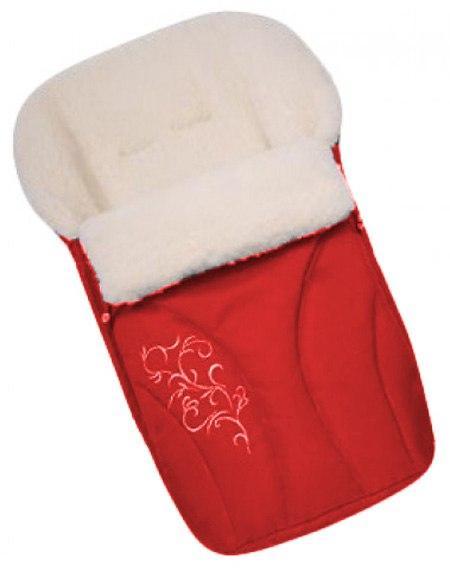 Зимний конверт с вышивкой Womar № 25 красный