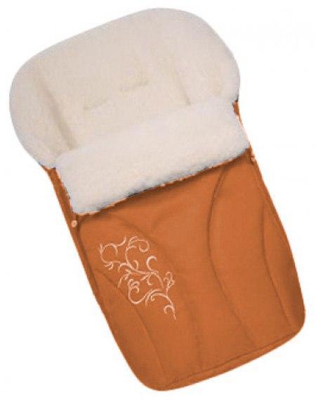 Зимний конверт Womar №25 с вышивкой  оранжевый