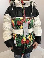 Цветная куртка-пальто для девочек