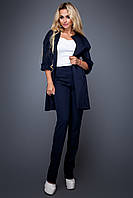 Супер Модный Тренч из Неопрена Синий S-XL