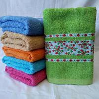 Махровое полотенце для лица с орнаментом . Размер: 1,0 x 0,5