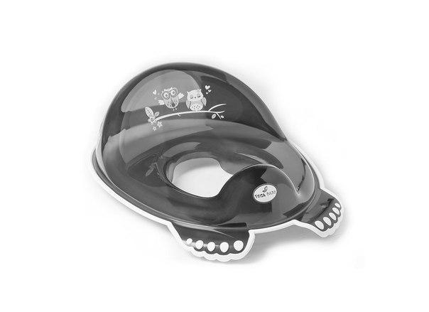 Накладка на унитаз антискользящая Tega SO-002 SOWA черный