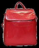 Модный женский рюкзак красного цвета из натуральной кожи NNW-001211, фото 1