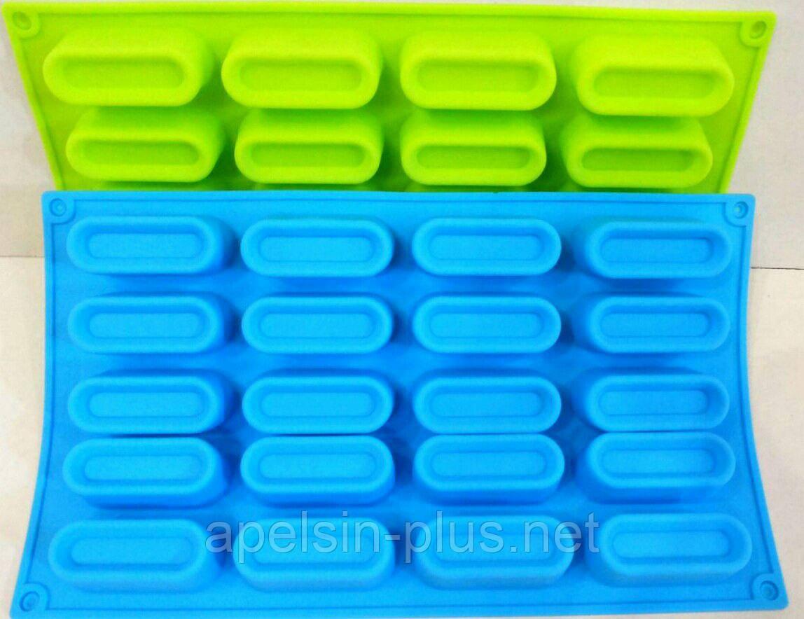 Силіконова форма для евродесертов Желейки з 20 штук
