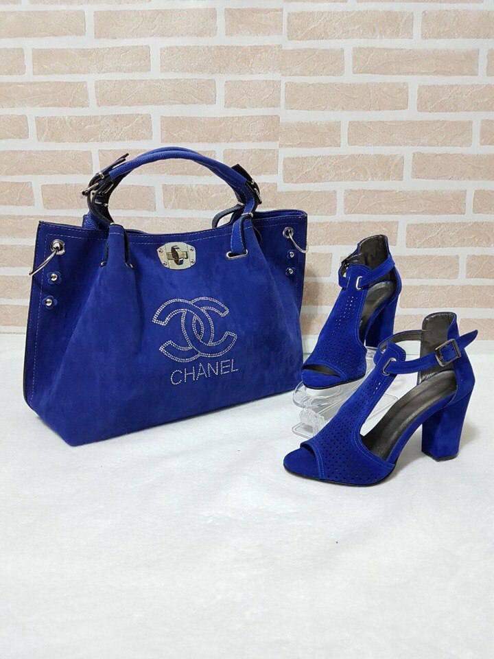 Сумка, босоножки с красивым каблуком Chanel электрик - В Париже в Днепре