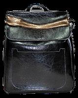 Модный женский рюкзак черного цвета из натуральной кожи NNW-001388