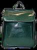 Модный женский рюкзак зеленого цвета из натуральной кожи NNW-001300