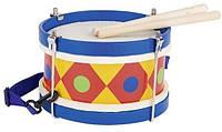 Музыкальный инструмент Goki Барабан с шлейкой синий (61982G)