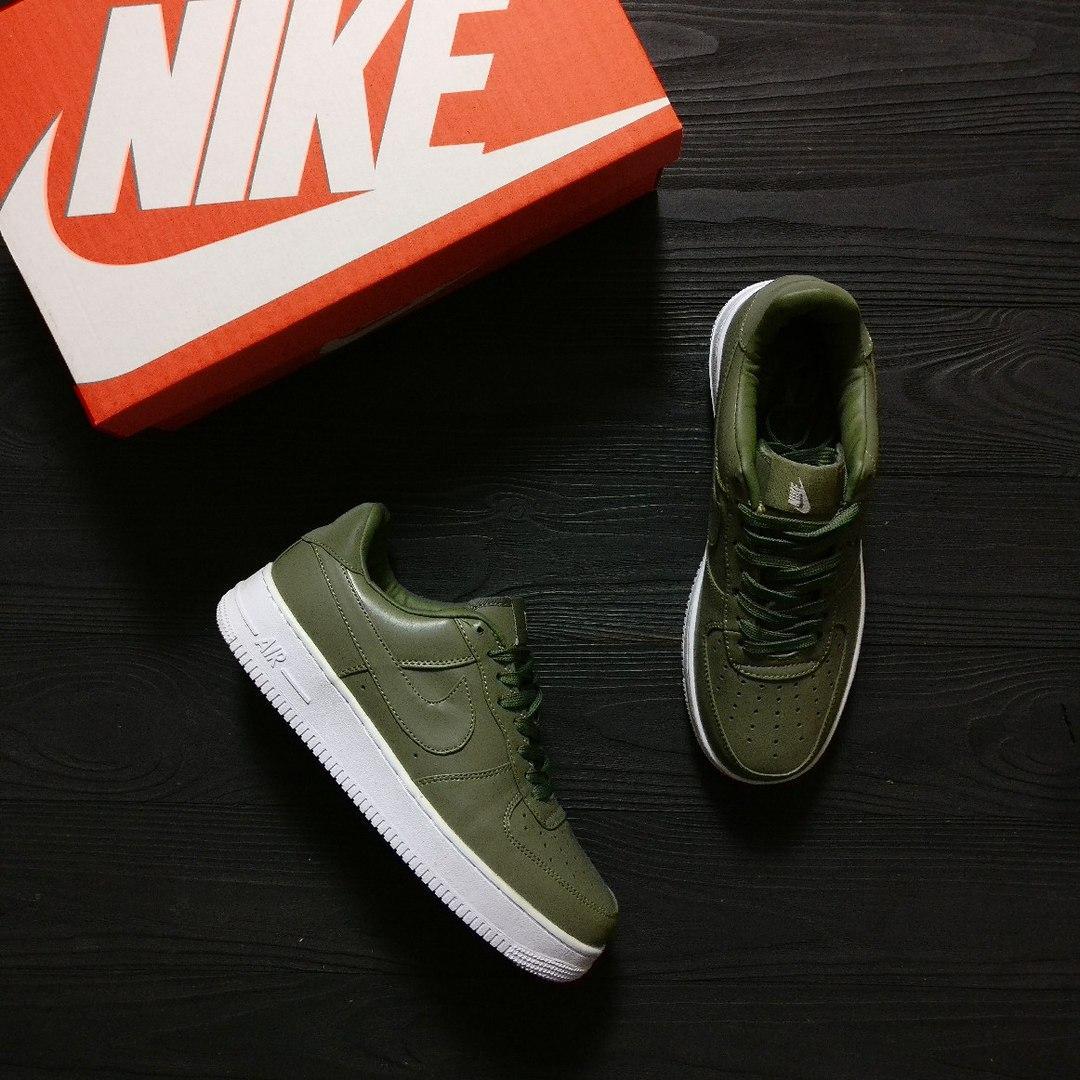 Замшевые кроссовки Nike Air Force Green топ реплика
