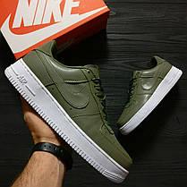 Замшевые кроссовки Nike Air Force Green топ реплика, фото 3