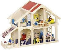 Кукольный домик Goki 2 этажа с внутреним двориком (51893G)