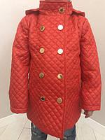 Пальто для девочек стеганное на заклепках