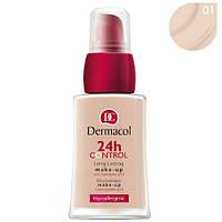 Тональный крем с коэнзимом Q10 Dermacol 24h Control Make-Up № 01