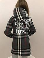 Стильное пальто на девочку из кашемира
