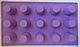 Силиконовая форма для евродесертов Цилиндры из 15 ячеек, фото 2