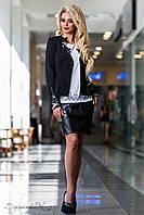 Красивый женский жакет с гипюровыми вставками 42-50 размеры